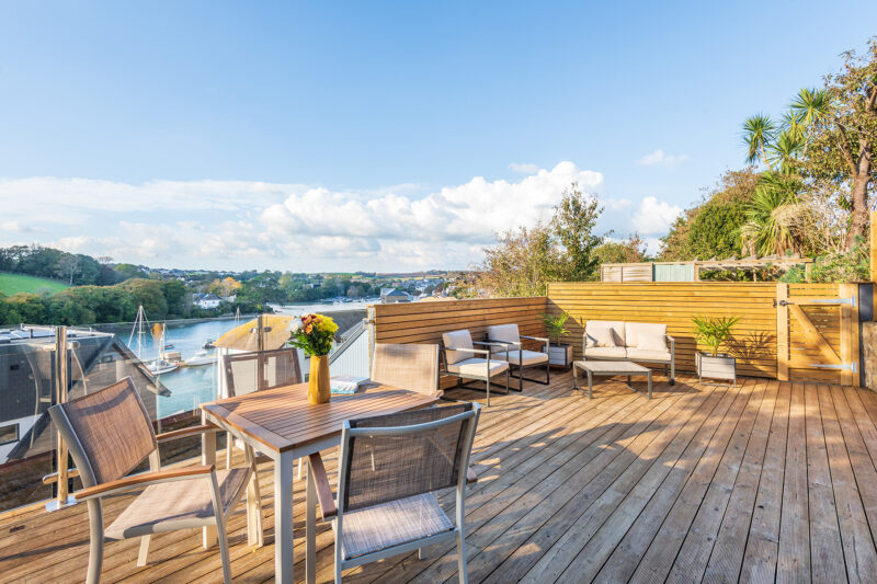 Welcome to Captain's Lookout!  The stunning decked terrace, the perfect spot for watching the sunset.