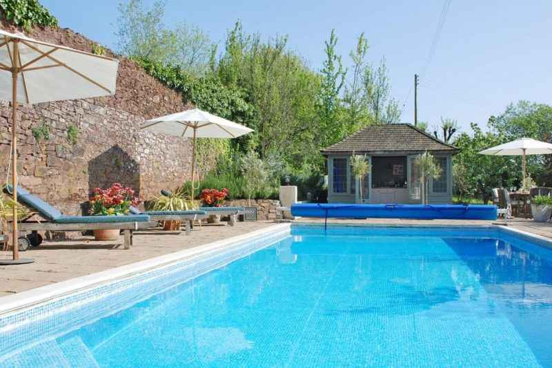 Shared outdoor heated swimming pool | The Pound House, Blagdon, near Paignton