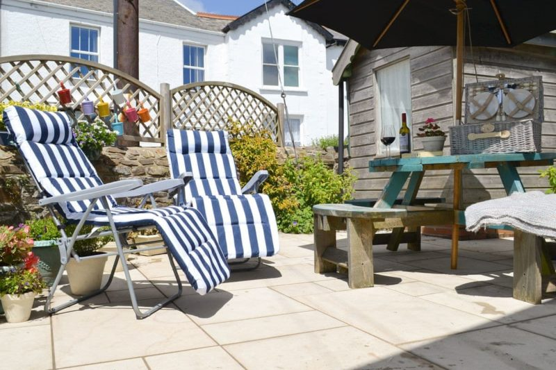 Delightful patio area | Cherry Tree Cottage, Hartland