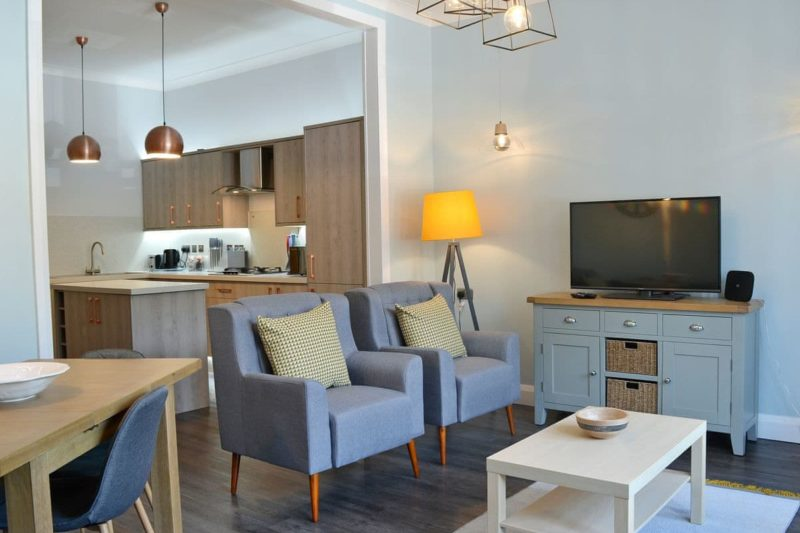 Thoughtfully furnished open plan living space   Apartment A Cockram House, Ilfracombe