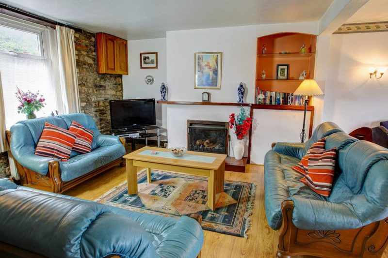 Welcoming living area with open fire | Pleasant Maris, East Ogwell, near Newton Abbot