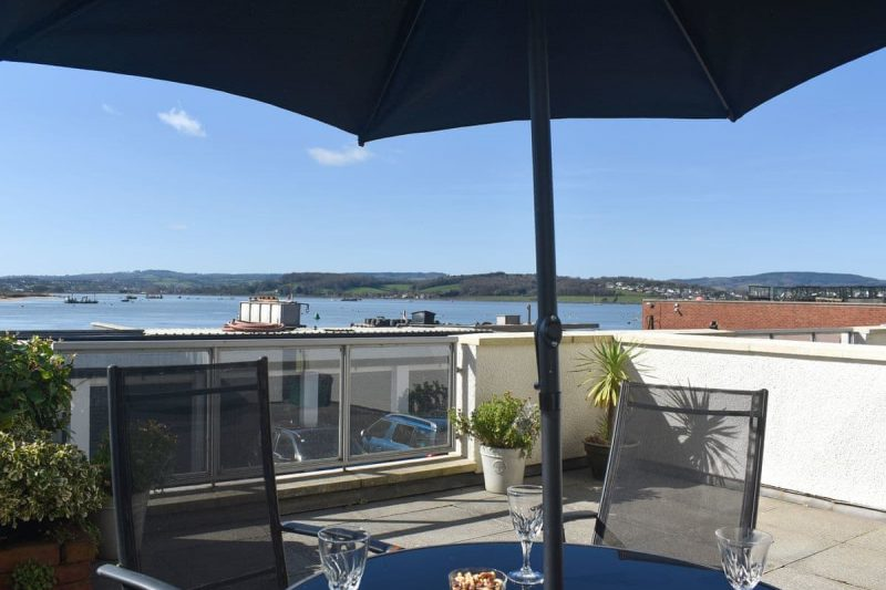 Balcony overlooking the mouth of the River Exe estuary | Pierhead View, Exmouth