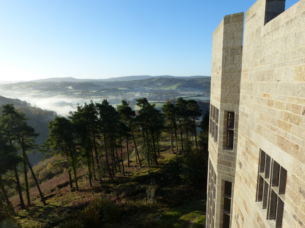 Misty morning at Castle Drogo