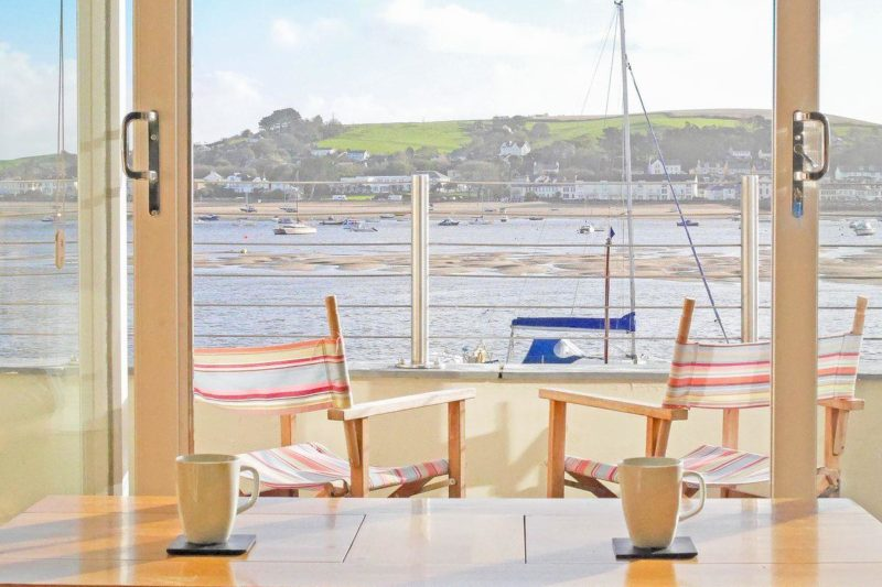 Enjoy a cup of coffee whilst admiring the fantastic river views | Shorewaters, Appledore, near Bideford