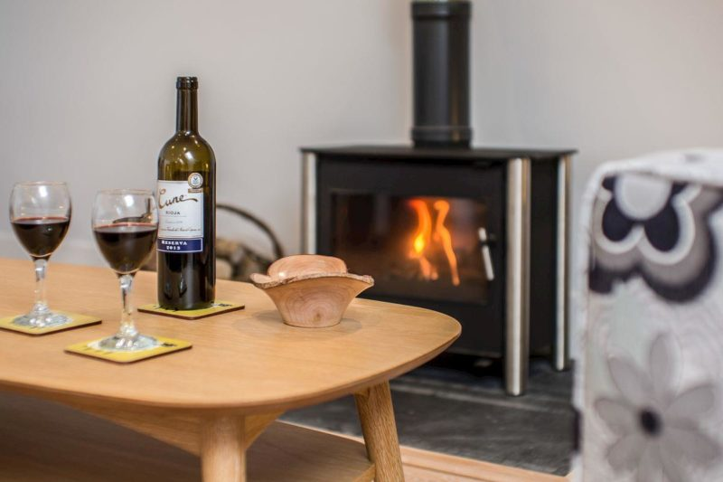 Cosy lounge with wood burner | Northill Lodge, Chagford