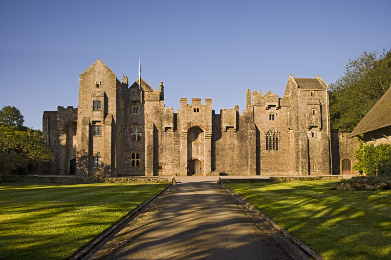 The north front of Compton Castle