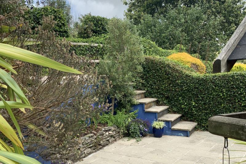 The pretty garden area