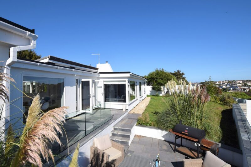 A view towards this remarkable holiday home