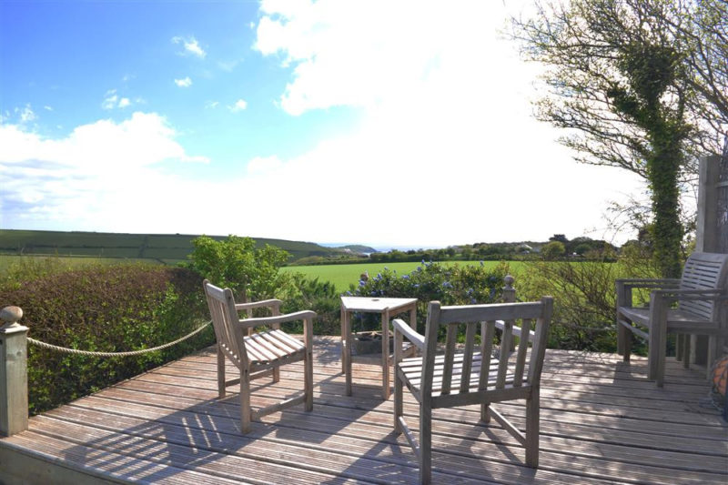 The sundeck from which there are fantastic views towards the sea