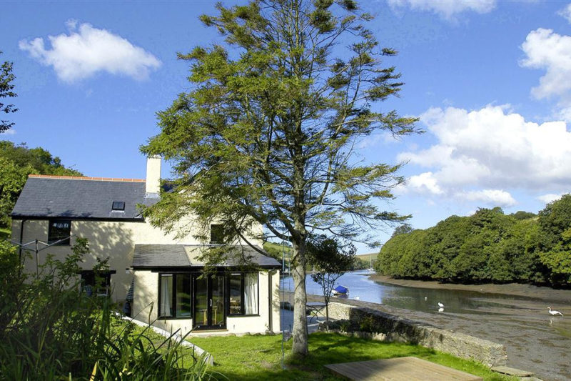 Waterhead Cottage, right on the water at the head of the creek.