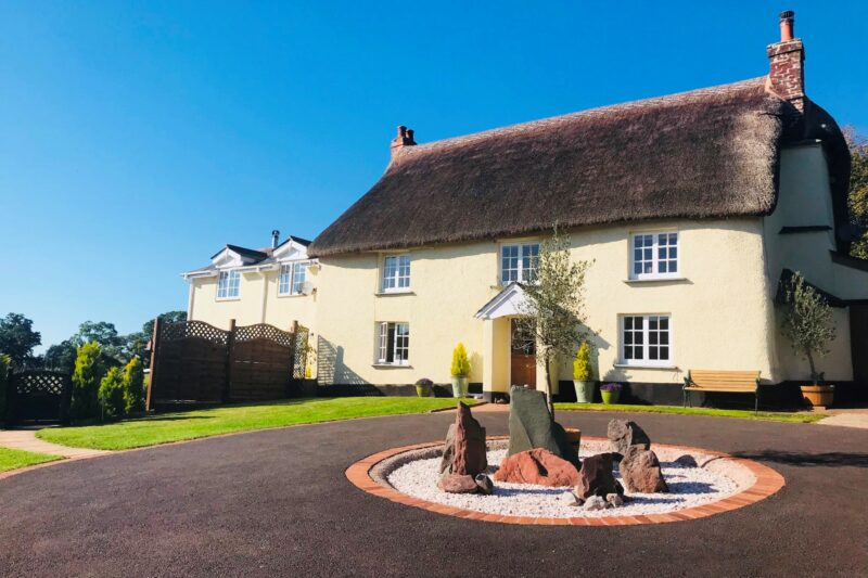 Cottage is attached to the left of  this beautiful thatched property