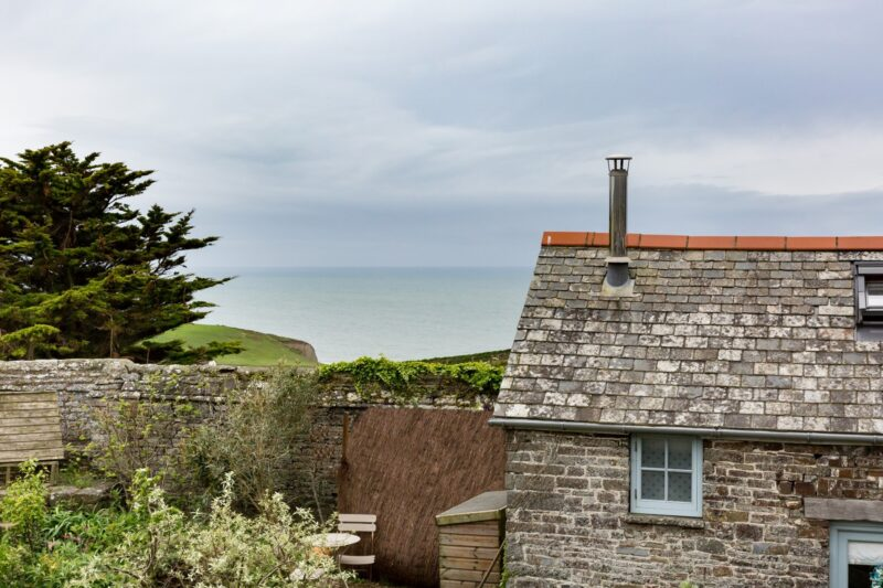 Spectacular sea views can be enjoyed from behind the property in your seating area