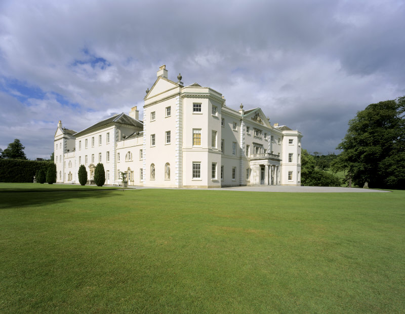 he south and West fronts of Saltram, Devon, viewed across the lawn