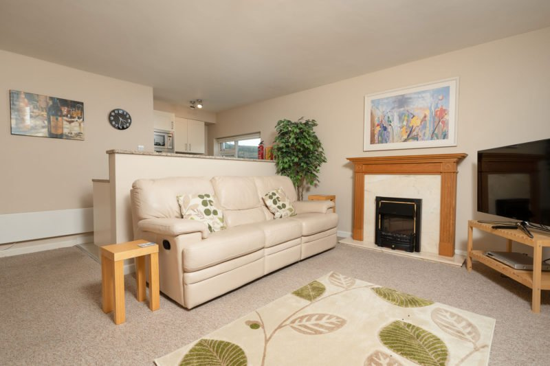 The lovely open plan living space at 6 Lee Court.