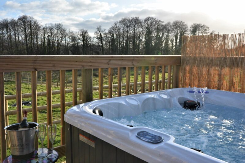 Private hot tub to relax after a day exploring