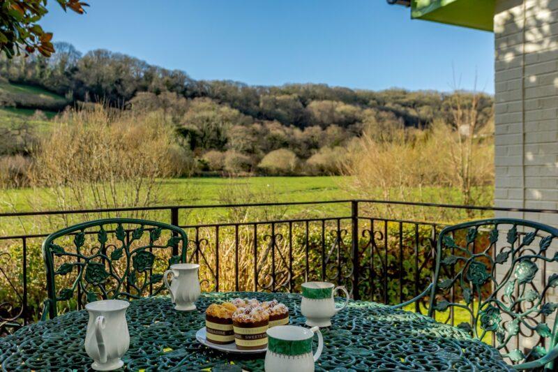 Afternoon tea in the encosed rear garden