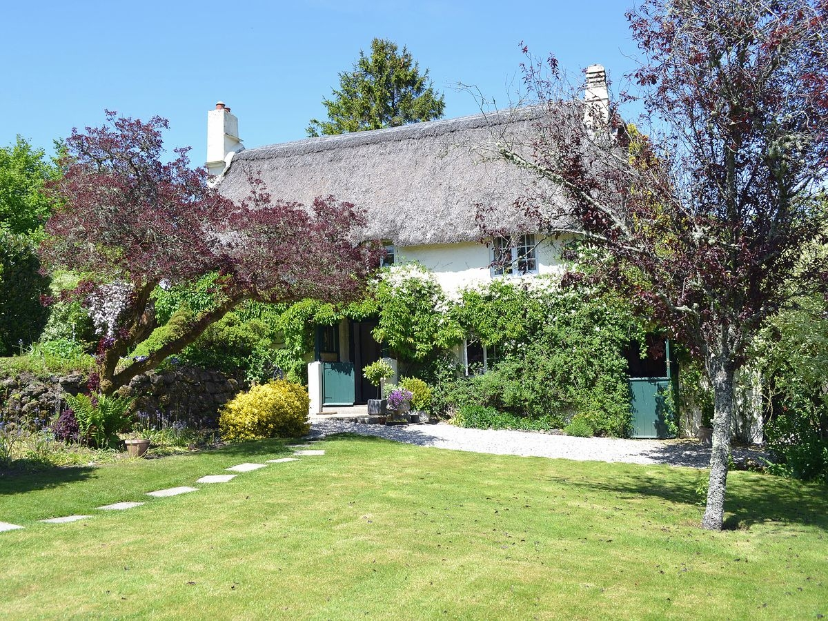 Traditional thatched Devon cottage