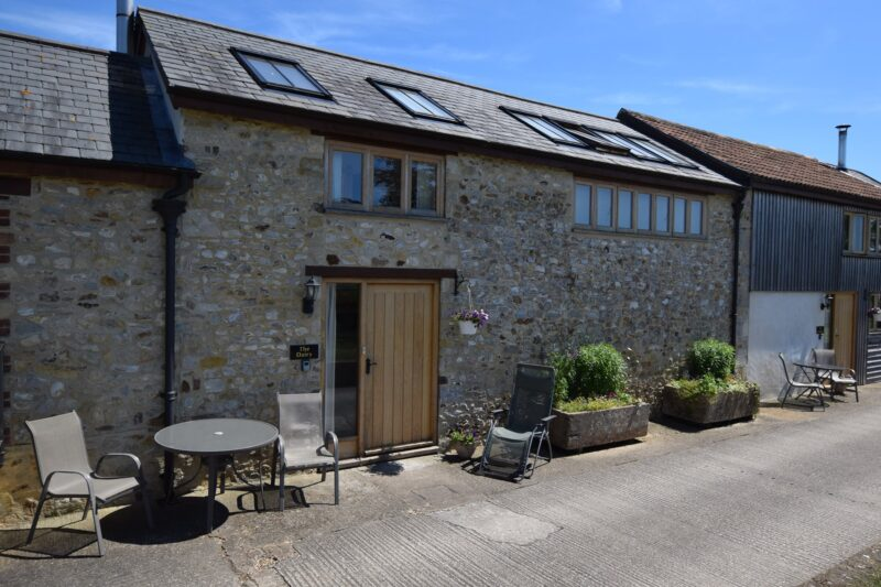 The front of the property with magnificent countryside views