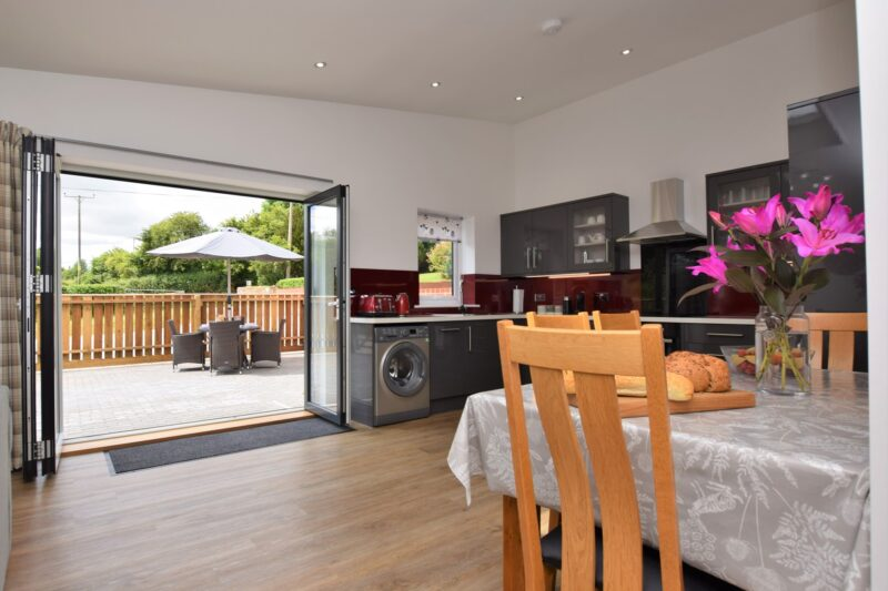 Bringing the outside in with these bi-fold doors