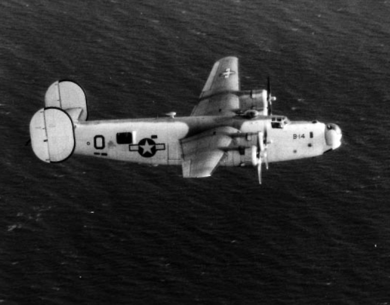 A U.S. Navy Consolidated PB4Y-1 Liberator from Patrol Bombing Squadron VPB-110 in flight in September 1944