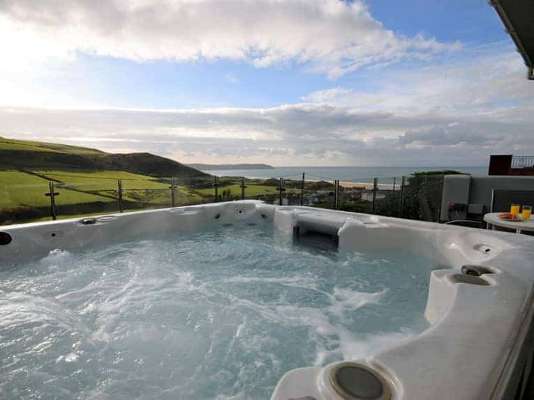 Stunning views from the hot tub