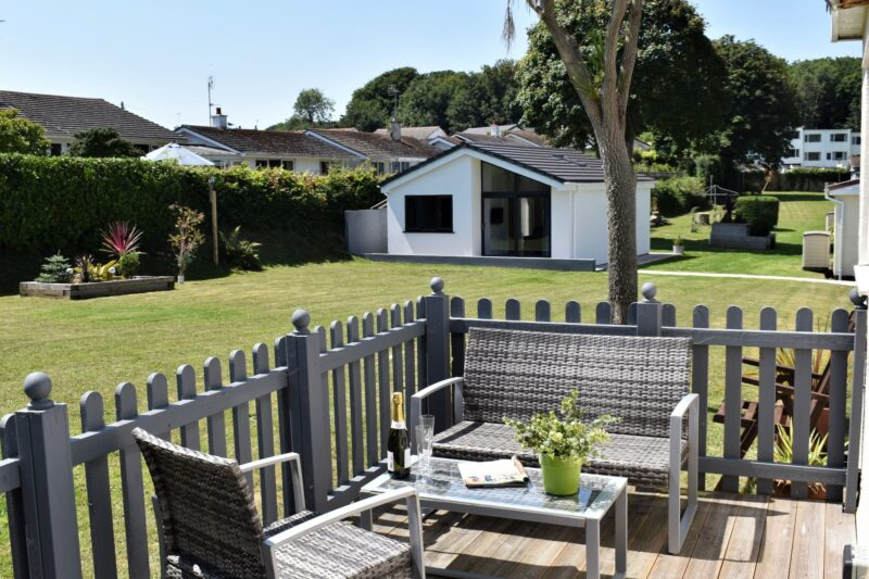 Perfect spot for a cup of tea on the sunny rear furnished and enclosed terrace