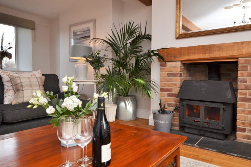Enjoy a relaxing evening in front of the wood-burner