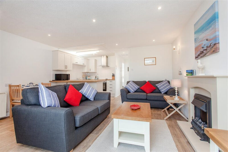 The open plan living room