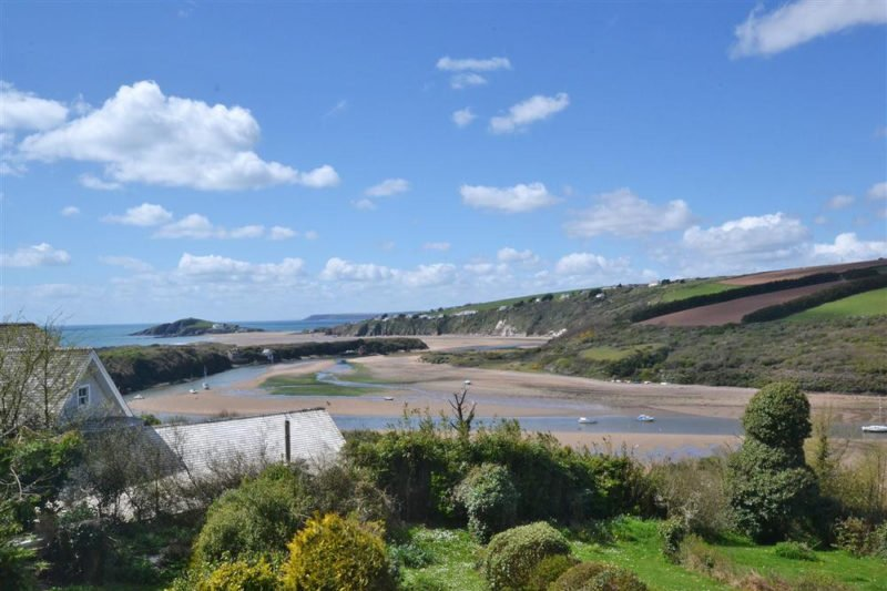 The gorgeous views of Bantham beach and estuary from 2 Avonside