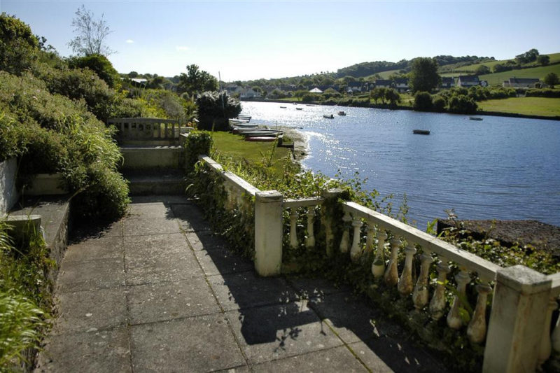 Boathouse Cottage - a view from the terrace looking up to the head of the estuary.